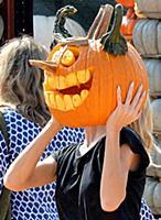 Хайди Клум готовится к Хэллоуину