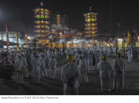 Mandatory Credit: Photo by Mohd Daud/NurPhoto/REX Shutterstock (5287894f) Malaysian Chinese devotees Nine Emperor Gods Festival, Kuala Lumpur, Malaysia - 21 Oct 2015