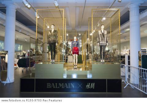 Mandatory Credit: Photo by Ray Tang/REX Shutterstock (5346899ao) Store display Balmain x H&M launch, London, Britain - 05 Nov 2015