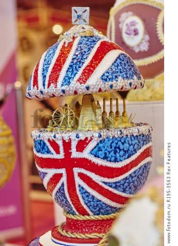 MANDATORY CREDIT: Cake International/REX Shutterstock. Only for use in this story. Editorial Use Only. No stock, books, advertising or merchandising without photographer's permission Mandatory Credit: Photo by Cake International/REX Shutterstock (5355636j) A Faberge egg themed cake Cake International, Birmingham, Britain  - 07 Nov 2015 FULL COPY: http://www.rexfeatures.com/nanolink/rh2g  A series of amazingly wacky cake creations were unveiled this weekend at the Cake International event in Birmingham (6-8 November).  From life-size dinosaurs, to miniature Disney themed cakes, there is something for everyone at the famous show-stopping event.  Cake International is an annual event, which takes place at Birmingham's NEC.  Hundreds of cake designers attend the event, to show-case their incredible cake-art skills.  In the photos, there is a giant Maleficent from Disney's Sleeping Beauty, a life-size dinosaur head, and a life-size Game of Thrones themed cake.