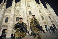 Усиленная охрана у Миланского собора