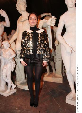 Mandatory Credit: Photo by Lodovico Colli di Felizzano/REX Shutterstock (5460040bf) Matilde Gioli Chanel Metiers d'Art show, Rome, Italy - 01 Dec 2015 French fashion house holds its annual catwalk show and premieres Once and Forever, Karl Lagerfeld's short film starring Kristen Stewart and Geraldine Chaplin. Stewart has also been chosen as the face of the MГ©tiers d'Art advertising campaign Paris-Rome. Showcases the work of ten artisan manufacturers who work for Paraffection, a subsidiary of Chanel which promotes and maintains manufacturing skills