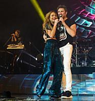 Линдси Лохан на сцене вместе с Duran Duran