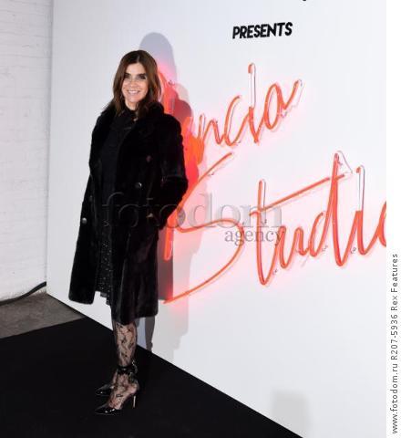 Mandatory Credit: Photo by Stephen Lovekin/WWD/REX Shutterstock (5489936as) Carine Roitfeld 'Ferragamo presents Gancio Studios' Event, New York, America - 08 Dec 2015
