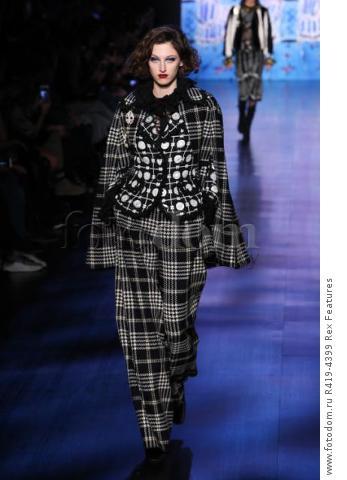 Mandatory Credit: Photo by Amy Sussman/WWD/REX/Shutterstock (8377423ba) Model on the catwalk Anna Sui show, Runway, Fall Winter 2017, New York Fashion Week, USA - 15 Feb 2017