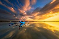 Рыбацкие лодки на рассвете, Остров Бали (Bali), Ин