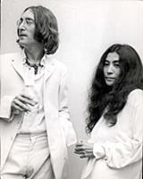 John Lennon With His Girlfriend Artist Yoko Ono At