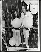 John Lennon And Yoko Ono At The Opening Of His Art