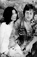 John Lennon Pictured With His Second Wife Yoko Ono