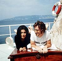 Yoko Ono and John Lennon in Cap D'Antibes John Len