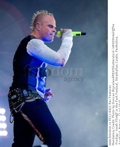 Mandatory Credit: Photo by Duncan Bryceland/REX/Shutterstock (4900964ak) The Prodigy - Keith Flint T in the Park Festival, Strathallan Castle, Perthshire, Scotland, Britain - 12 Jul 2015