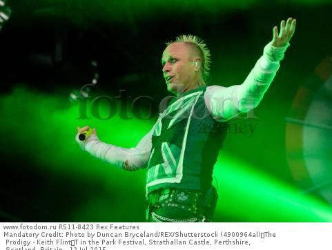 Mandatory Credit: Photo by Duncan Bryceland/REX/Shutterstock (4900964al) The Prodigy - Keith Flint T in the Park Festival, Strathallan Castle, Perthshire, Scotland, Britain - 12 Jul 2015
