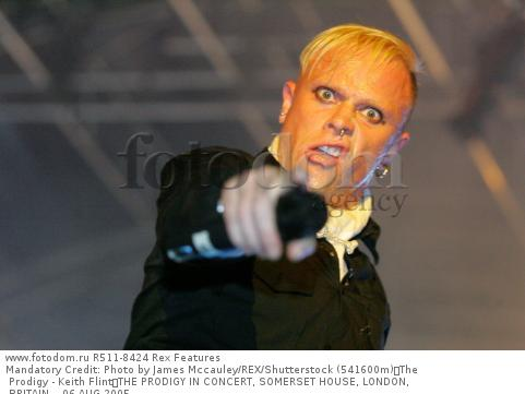 Mandatory Credit: Photo by James Mccauley/REX/Shutterstock (541600m) The Prodigy - Keith Flint THE PRODIGY IN CONCERT, SOMERSET HOUSE, LONDON, BRITAIN  - 06 AUG 2005