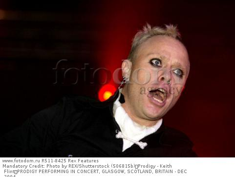 Mandatory Credit: Photo by REX/Shutterstock (506815b) Prodigy - Keith Flint PRODIGY PERFORMING IN CONCERT, GLASGOW, SCOTLAND, BRITAIN - DEC 2004