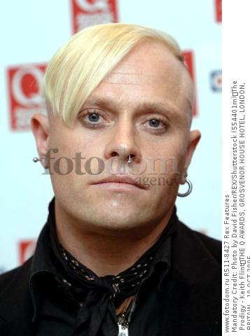 Mandatory Credit: Photo by David Fisher/REX/Shutterstock (554401m) The Prodigy - Keith Flint THE Q AWARDS, GROSVENOR HOUSE HOTEL, LONDON, BRITAIN - 10 OCT 2005