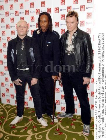 Mandatory Credit: Photo by David Fisher/REX/Shutterstock (554401bq) The Prodigy - Keith Flint, Maxim and Liam Howlett THE Q AWARDS, GROSVENOR HOUSE HOTEL, LONDON, BRITAIN - 10 OCT 2005