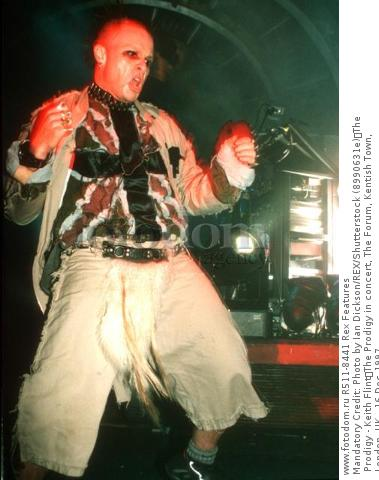 Mandatory Credit: Photo by Ian Dickson/REX/Shutterstock (8990631e) The Prodigy - Keith Flint The Prodigy in concert, The Forum, Kentish Town, London, UK - 16 Dec 1997