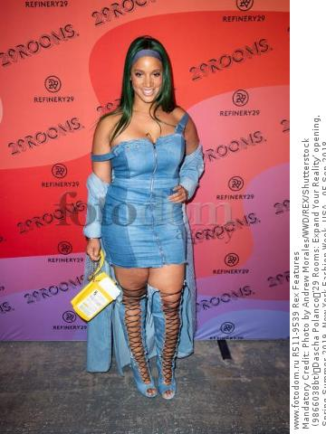 Mandatory Credit: Photo by Andrew Morales/WWD/REX/Shutterstock (9866038bt) Dascha Polanco '29 Rooms: Expand Your Reality' opening,  Spring Summer 2019, New York Fashion Week, USA - 05 Sep 2018
