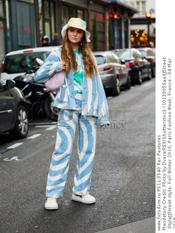 Mandatory Credit: Photo by Dvora/REX/Shutterstock (10139056aa) Street Style Street style, Fall Winter 2019, Paris Fashion Week, France - 04 Mar 2019