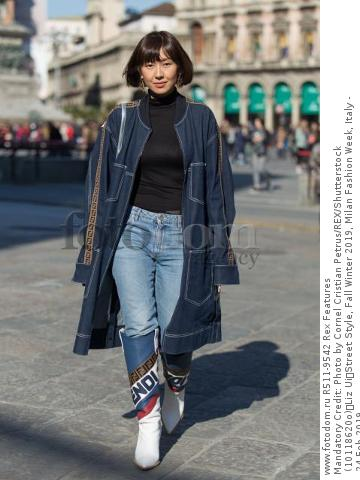 Mandatory Credit: Photo by Cornel Cristian Petrus/REX/Shutterstock (10118620o) Liz Ui Street Style, Fall Winter 2019, Milan Fashion Week, Italy - 24 Feb 2019