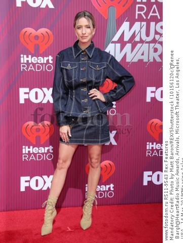 Mandatory Credit: Photo by Matt Baron/REX/Shutterstock (10156120c) Renee Bargh iHeartRadio Music Awards, Arrivals, Microsoft Theater, Los Angeles, USA - 14 Mar 2019 Wearing Acler