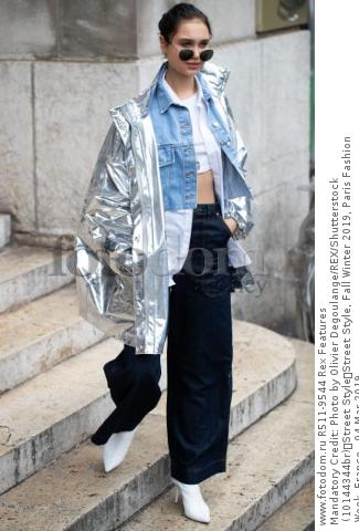 Mandatory Credit: Photo by Olivier Degoulange/REX/Shutterstock (10144344br) Street Style Street Style, Fall Winter 2019, Paris Fashion Week, France - 04 Mar 2019