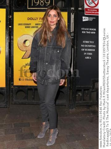 Mandatory Credit: Photo by Mark R Milan/REX/Shutterstock (10199783o) Louise Redknapp '9 To 5 The Musical' cast departures, Savoy Theatre, London, UK - 10 Apr 2019