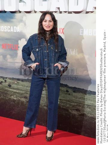 Mandatory Credit: Photo by Belen DIaz/DYDPPA/REX/Shutterstock (10167730aq) Maria Escote 'The Highwaymen' film premiere, Madrid, Spain - 25 Mar 2019