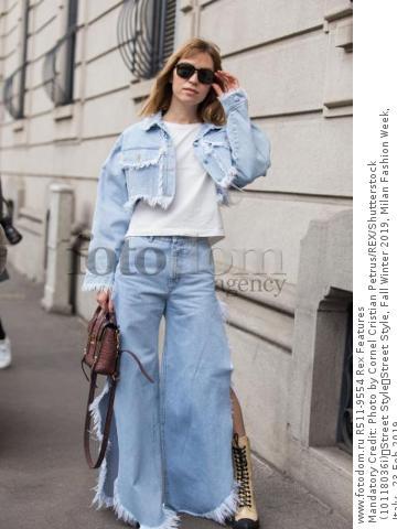 Mandatory Credit: Photo by Cornel Cristian Petrus/REX/Shutterstock (10118036i) Street Style Street Style, Fall Winter 2019, Milan Fashion Week, Italy - 23 Feb 2019