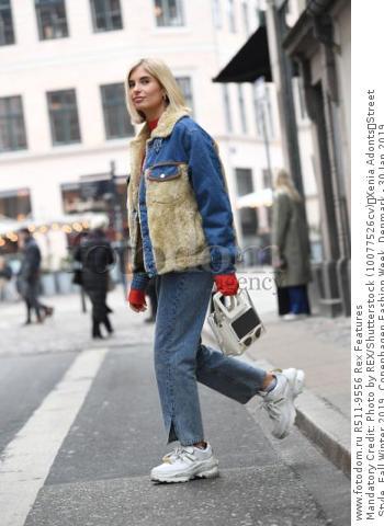 Mandatory Credit: Photo by REX/Shutterstock (10077526cv) Xenia Adonts Street Style, Fall Winter 2019, Copenhagen Fashion Week, Denmark - 30 Jan 2019