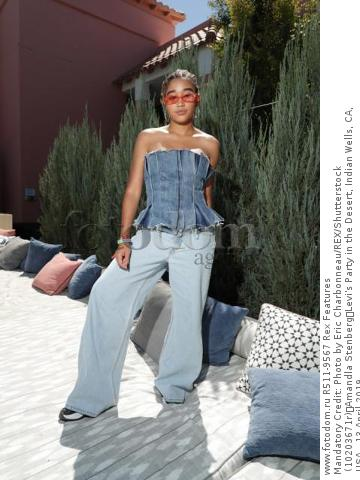 Mandatory Credit: Photo by Eric Charbonneau/REX/Shutterstock (10203671r) Amandla Stenberg Levi's Party in the Desert, Indian Wells, CA, USA - 13 April 2019