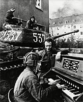 World war 2, a member of a soviet tank crew playin