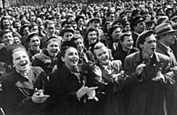 Victory day celebration in Leningrad, USSR, May 19
