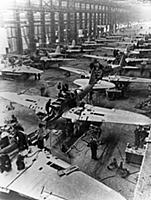 Il-2 sturmovik attack aircraft being built at a fa