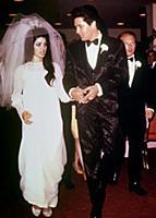 ELVIS PRESLEY AT HIS WEDDING TO PRISCILLA BEAULIEU