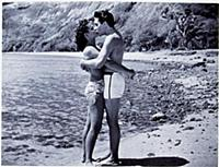 FILM STILLS OF 'BLUE HAWAII' WITH 1961, BARE CHEST