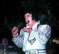 Elvis Presley Singing in White 1976