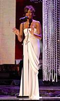 Whitney Houston during the show Swarovski Fashion