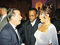 Dick Clark, Bobby Brown and Whitney Houston 1996 A