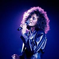 Whitney Houston in concert at Wembley Arena, Londo