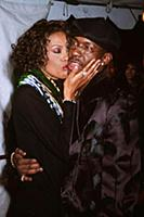 Whitney Houston and Bobby Brown at the Arista Part
