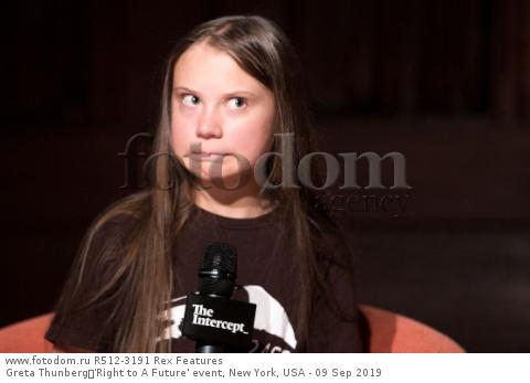 Greta Thunberg 'Right to A Future' event, New York, USA - 09 Sep 2019