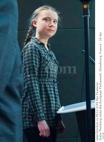 Greta Thunberg visits the European Parliament, Strasbourg, France - 16 Apr 2019