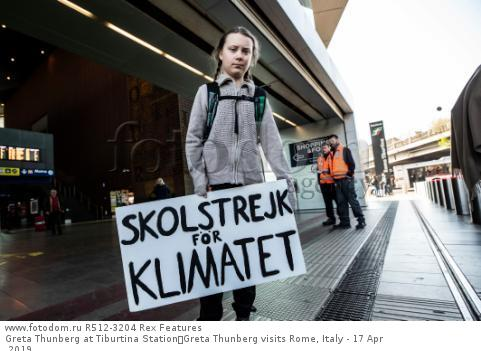 Greta Thunberg at Tiburtina Station Greta Thunberg visits Rome, Italy - 17 Apr 2019
