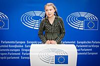 Greta Thunberg visits the European Parliament, Str