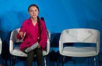 Climate activist Greta Thunberg speaks at the Clim