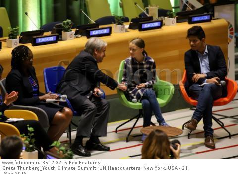 Greta Thunberg Youth Climate Summit, UN Headquarters, New York, USA - 21 Sep 2019