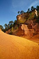 Sand dune in desert landscape