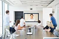 Business people in teleconference