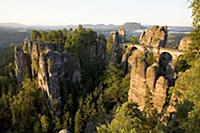 Saxon Switzerland: bastion with the bastion bridge